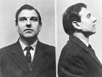El agente doble George Blake en las fotos de la prisión británica Wormwood Scrubs, donde estuvo cinco años hasta que se fugó en 1966 y llegó a Moscú.