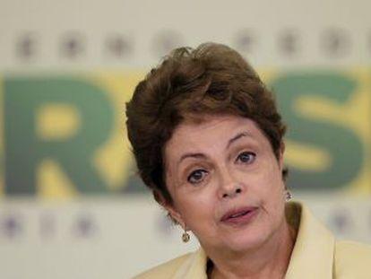 Dilma Rousseff, en Brasilia, en mayo de 2015.