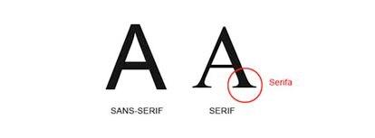 Letras con serifa y de palo seco