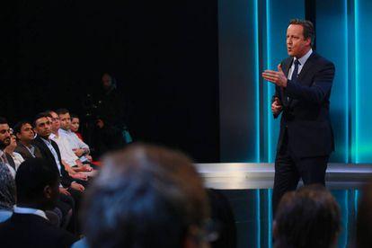 Cameron, en el program de la ITV.