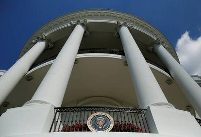 El balcón Truman de la Casa Blanca.