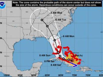 Sigue al minuto la última hora y la trayectoria del ciclón, que ya ha impactado en Florida