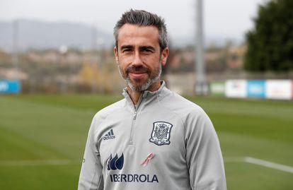 Jorge Vilda, entrenador de la selección femenina de fútbol, esta semana en un entrenamiento en la Ciudad del Fútbol de Las Rozas (Madrid).