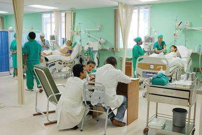 Cuidados intensivos en un hospital de La Habana.