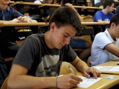 Prueba de selectividad en la Universidad Complutense de Madrid.