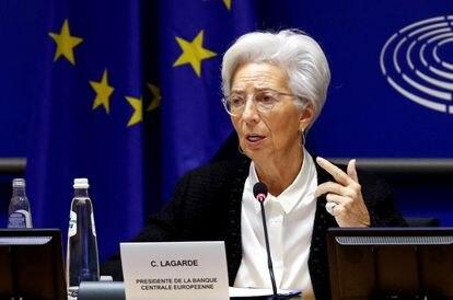 La presidenta del Banco Central Europeo, Christine Lagarde, en Bruselas, el pasado febrero.