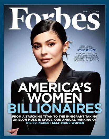La portada de Forbes de agosto de 2018 con Kylie Jenner.
