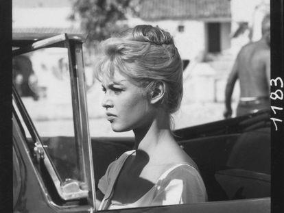 Bardot durante el rodaje de 'Los joyeros del claro de luna'.