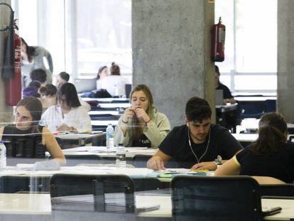 Biblioteca en la Universidad Autónoma de Madrid.