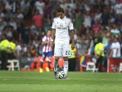Di María, en el partido de ida entre el Atletico y el Real Madrid de la Supercopa.