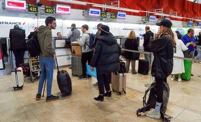 Mostradores de facturación en el aeropuerto de Madrid-Barajas.