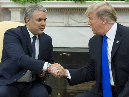 Los presidentes de Colombia y EE UU, Iván Duque y Donald Trump, en la Casa Blanca.