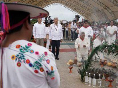 López Obrador pone en marcha la construcción del Tren Maya para impulsar el sureste de México en medio de cuestionamientos de grupos ambientalistas