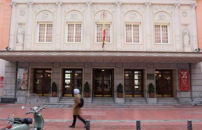 Vista de la fachada del Teatro de la Zarzuela.