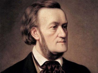 Retrato de Richard Wagner por Caesar Willich, hacia 1862.