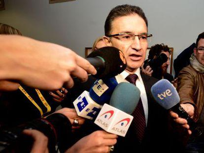 Serafín Castellano, ex delegado del Gobierno de la Comunidad Valenciana, llega a declarar a la comisión por el accidente del metro.