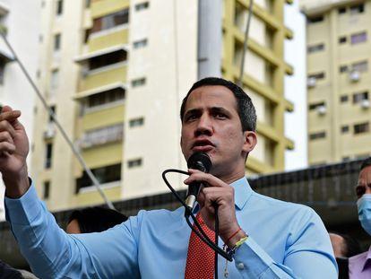 Juan Guaidó, este lunes, en Caracas.
