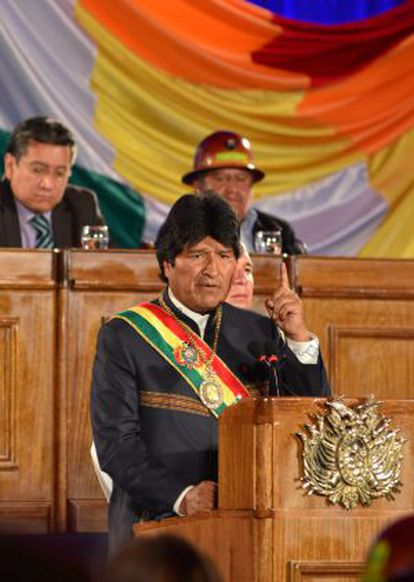 Evo Morales, durante un discurso en Cochabamba.