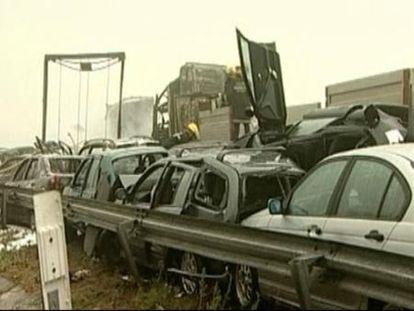 Al menos 5 muertos y 72 heridos en un grave accidente en Portugal