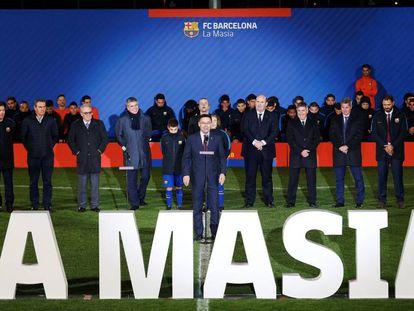 Bartomeu, en la presentación del fútbol formativo del Barcelona.