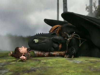 Fotograma de la película de animación 'Cómo entrenar a tu dragón 2'.