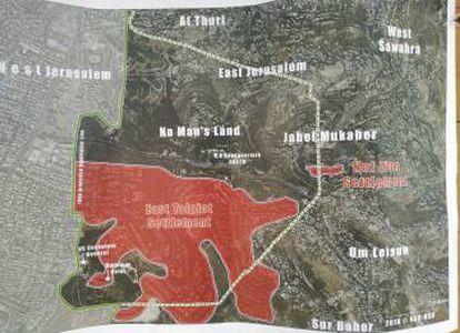 Mapa de Jerusalén.
