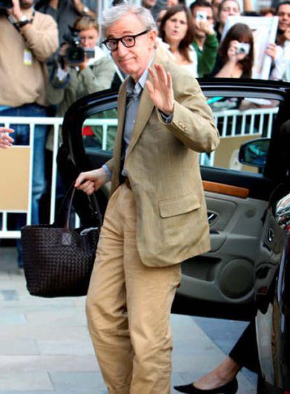 Woody Allen a su llegada a San Sebastián