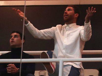 Sergio Ramos, en el estadio Santiago Bernabeu, en Madrid, el pasado martes.
