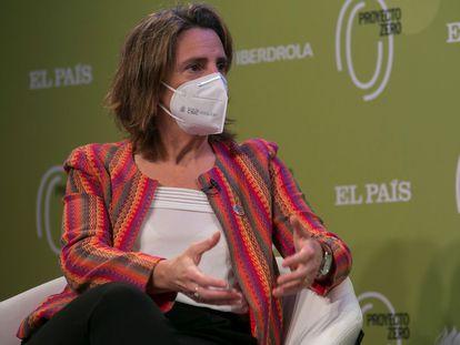 Teresa Ribera, vicepresidenta cuarta y ministra para la Transición Ecológica y el Reto Demográfico, en diciembre en un foro en Madrid.