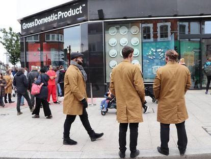 La tienda temporal de Banksy en Croydon (Londres), este viernes