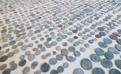 Monedas incautadas en la provincia de Málaga por la Guardia Civil.