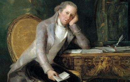 Detalle del retrato de Jovellanos pintado por Goya en 1798.