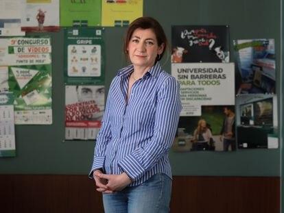 Nuria Manzano, en la Facultad de Educación de la UNED, este jueves.