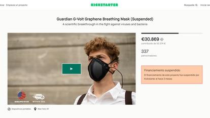 Uno de los proyectos suspendidos por Kickstarter
