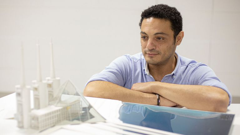 Mohamed Alí, en las oficinas de su constructora, el pasado octubre en la provincia de Barcelona.