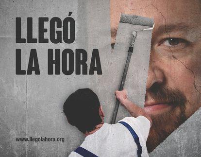 Campaña de Hazte Oír contra Pablo Iglesias.