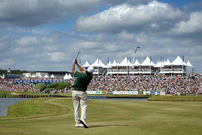 Pablo Larrazábal, en el Le Golf National, el campo que acogerá la Ryder en 2018.