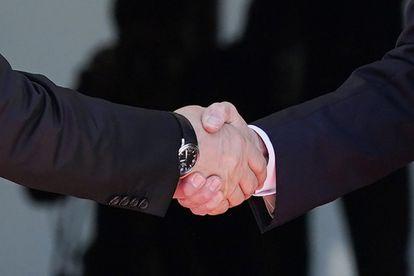President Joe Biden, right, shakes hands and meets with Russian President Vladimir Putin, Wednesday, June 16, 2021, at the 'Villa la Grange', in Geneva, Switzerland. (AP Photo/Patrick Semansky)