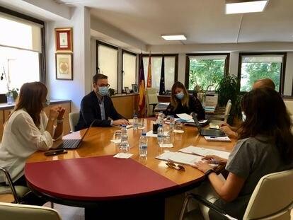 Reunión de la Conselleria de Salud y Consumo con el Ayuntamiento de Palma, este miércoles.