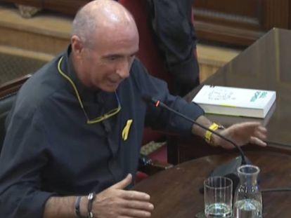 Lluís Llach durante su declaración en el juicio del 'procés'.