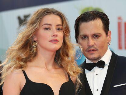 Johnny Depp y Amber Heard, en el Festival de Cine de Venecia, en septiembre de 2015.