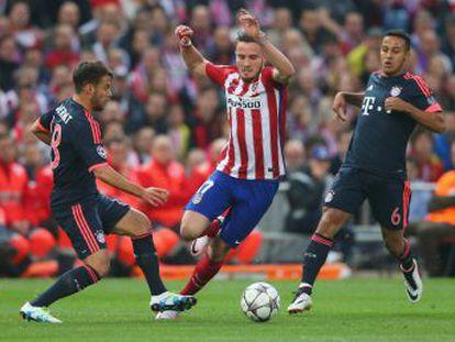 Saúl pone en ventaja al Atlético en la eliminatoria con eslalon memorable