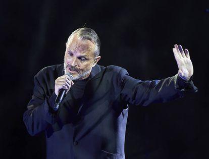 Miguel Bosé en el Auditorio de Castrelos , Vigo, en 2017.