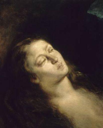 La Magdalena en el desierto (1845), de Eugéne Delacroix.