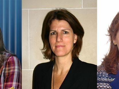 Desde la izquierda, Mónica Chao (Ikea), Helena Viñes (CNMV) y Esther Alonso (Atlantic Copper), especialistas en materia de sostenibilidad nombradas recientemente.