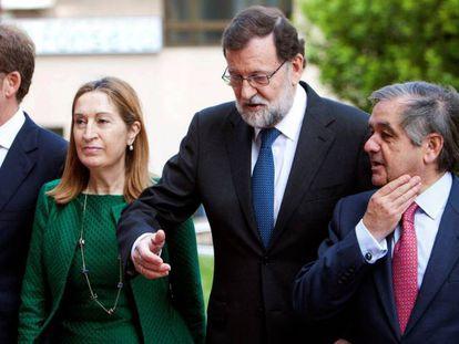 Mariano Rajoy, a su llegada a la inauguración de la Asamblea General de Socios del Círculo de Empresarios de Galicia.