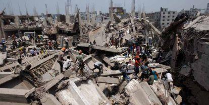 Derrumbe del edificio de Bangladesh
