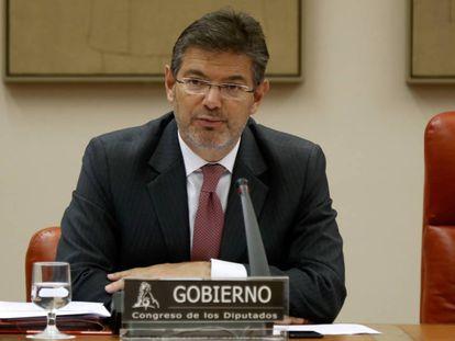 Rafael Catalá en una comparecencia en el Congreso en 2017.