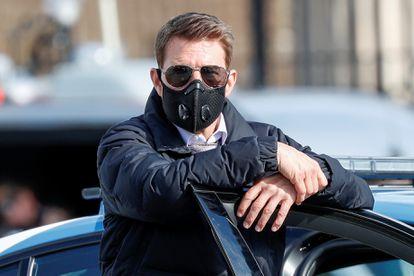 Tom Cruise, en Roma, durante el rodaje de 'Misión: Imposible 7', el pasado 13 de octubre.