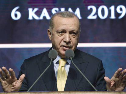 El presidente turco, Recep Tayyip Erdogan, este miércoles en Ankara.